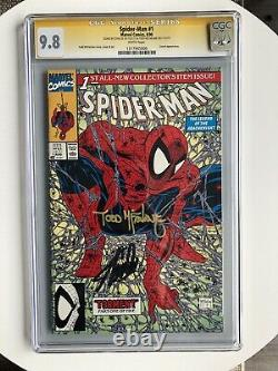 Spider-man #1 Cgc 9.8 Wp Ss Signé Par 2x Stan Lee & Todd Mcfarlane