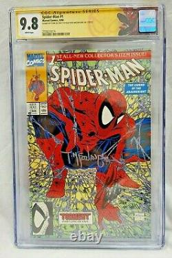 Spider-man #1 Cgc 9.8 Wp Ss Signé Par 2x Stan Lee & Todd Mcfarlane Sm #1 Tribute