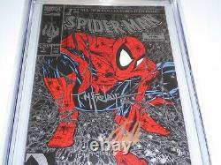 Spider-man #1 Cgc Ss 2x Signature Autographe Stan Lee Todd Mcfarlane Silver Var