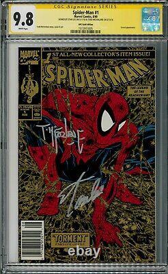 Spider-man 1 Gold Upc Cgc 9.8 Signé Par Todd Mcfarlane Et Stan Lee