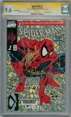 Spider-man # 1 Platinum 9.6 Cgc Signature Series Signé Stan Lee Et Todd Mcfarlane