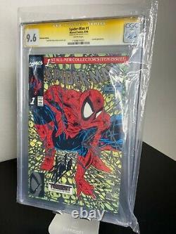 Spider-man #1 Signé Par Stan Lee! Platinum Edition 9.6 Cgc Ultra Rare Hot Ss