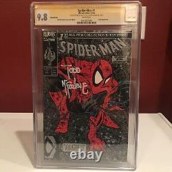 Spider-man 1 Torment Silver Variante Cgc 9,8 2x Ss Signé Stan Lee Todd Mcfarlane