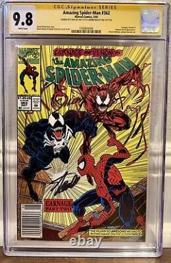 Spider-man #362 Cgc 9.8 Ss Stan Lee & Bagley 1er Carnage Venom Cover Newsstand