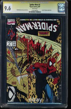 Spider-man #3 Cgc 9,6 Ss Stan Lee A Signé Mcfarlane Couverture Et Art Cgc #1197166016