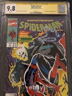 Spider-man #7 Cgc 9.8 Ss Signé Stan Lee Todd Mcfarlane Histoire, Couverture Et Art