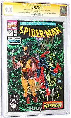 Spider-man 9 Cgc Ss 9.8 Signé 3x Par Stan Lee Todd Mcfarlane Herb Trimpe Wht Pgs