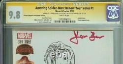 Spider-man A Signé Stan & Joanie Lee Campbell Renouveler Vos Titres #1 Cgc 9,8 Croquis