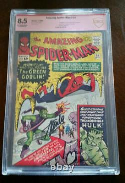 Spider-man Amazing #14 Cbcs 8.5 (comme Cgc) Signé Stan Lee 1er Green Goblin Cley