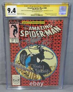 Spider-man N° 300 Signé X4 Stan Lee, Mcfarlane, 1er Venom Cgc 9,4 Nm 1988