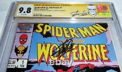 Spider-man Vs Wolverine #1 Cgc Ss 9.8 2x Signature Autographe Stan Lee Hobgoblin