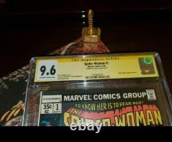 Spider-woman #1 Cgc 9.6 Ss Origin Signé Stan Lee! Livres Spider-man