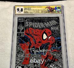 Spiderman 1 Cgc 9.8 Signé Mcfarlane & Stan Lee + Ny Con Spiderman Label Rare
