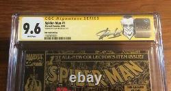 Spiderman #1 Gold Upc Walmart Edition Ss Stan Lee Cgc 9.6 Extrêmement Rare
