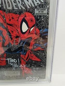 Spiderman #1 Silver Edition Cgc 9.6 Ss Signé 2x Stan Lee & Todd Mcfarlane! 1990
