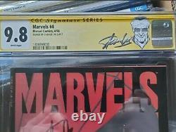 Spiderman. Marvels 9.8 #4 Étiquette Stan Lee. Signé Par Stan Lee. Bleu