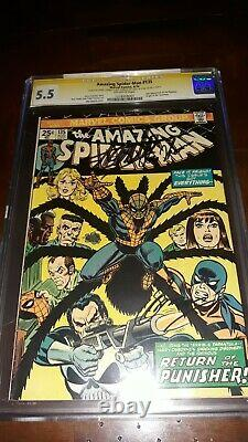 Stan Lee 3x A Signé L'incroyable Spider-man #135 Cgc Ss + Conway Thomas 2nd Punisher