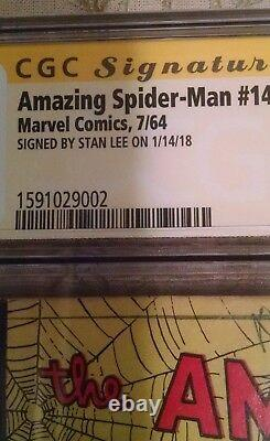 Stan Lee A Signé Amazing Spider-man #14 Cgc 3.0 Signature Série 1er Green Goblin