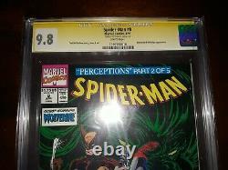 Stan Lee Signé Spider-man # 9 Cgc Ss 9.8 (nm/mt) 1991 Wht Pgs Mcfarlane Cover