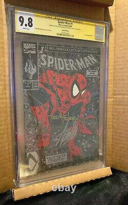 Stan Lee Signé Spiderman 1 Cgc 9.8 Ss Stan Lee & Todd Mcfarlane 2x Signé Rare
