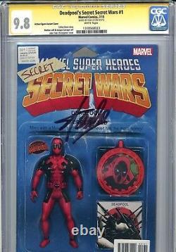 Stan Lee Signed Deadpool Secret Wars #1 9,8 Cgc Action Figure Variant Spider-man