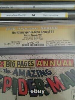 Stupéfiant Araignée Annuel #1 4,5 Cgc Signé Stan Lee 1app Sinistre Six Livre Chaud