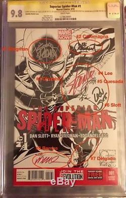 Supérieur Spiderman 1 Sketch Var. Cgc 9.8 8x Ss Stan Lee Quesada Slott Stegman