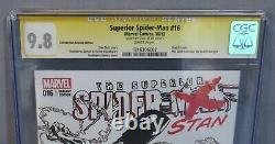 Superior Spider-man #16 (stan Lee Signed, Sketch Cover) Cgc 9.8 Marvel 2013
