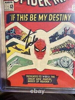 The Amazing Spider-man #31 Cgc 8.5 Ss 1ère Application Gwen Stacy- Signé Par Stan Lee
