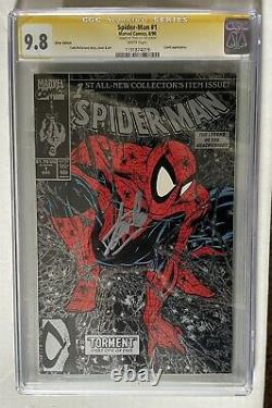 Todd Mcfarlanes Spider-man 1 1990 Argent Cgc 9,8 Ss Signé Stan Lee Nm Marvel