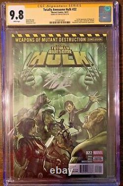 Totally Awesome Hulk 22 Cgc Ss 9.8 Signé Stan Lee 1st App Weapon H