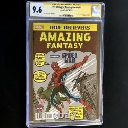 True Believers Amazing Fantasy 1 Cgc Ss 9.6 Signé Par Stan Lee! #15 Hommage