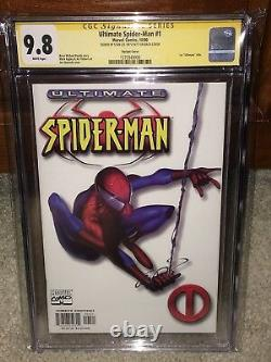 Ultimate Spider-man #1 Cgc 9.8 2000 White Variante! Stan Lee Signature G11 156 CM