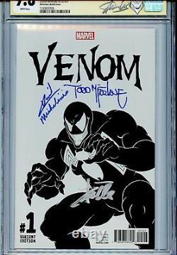 Venin Vol 3 1 Cgc 9.8 Ss X3 Todd Mcfarlane Croquis Stan Lee Michelinie Spider-man