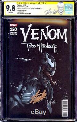 Venom 150 Cgc 9.8 Ss Stan Lee Todd Mcfarlane Dell Otto Variant Spiderman Nouveau-mexique