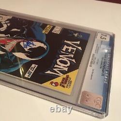 Venom Lethal Protecteur 1 Black Cover Imprimerie Erreur Cgc 7.5 Stan Lee Signé Case