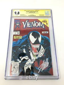 Venom Lethal Protector #1 Signé Stan Lee Mark Bagley Cgc 9.8 Rare Htf