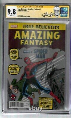 Vrai Croyants Fantastique #1 Signé Par Stan Lee Cgc Ss Classé 9.8 Marvel