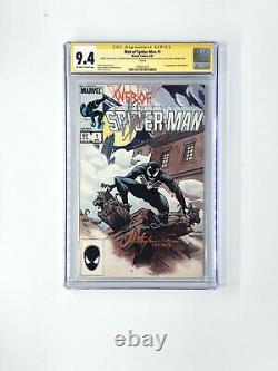 Web Of Spider-man 1 Cgc 9.4 Signé 3x Stan Lee & Clayton Crain Venomized +1