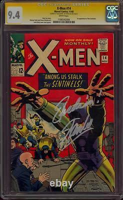 X-men 14 Cgc 9.4 Ss Stan The Man Lee Quote Excelsior! Première Application Sentinels Mint