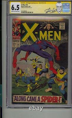 X-men #35 Cgc 6.5 Ss Signé Stan Lee Spider-man Classic Crossover